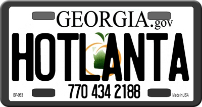 Hotlanta Bonding Company License Plate